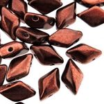 GemDuo  8x5mm  metalust burnt copper - 5 gram