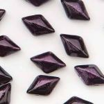 GemDuo  8x5mm  metalust purple (ok 37szt)- 5 gram