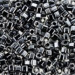 Toho Cube 3mm Metallic Hematite TC-03-81 10 gram