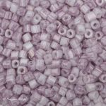 Toho Cube 1.5mm  : Marbled Opaque White/Pink TC-01-1200 5 gram