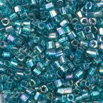 Toho Cube 1,5mm Transparent Rainbow Teal TC-01-167BD -5gram