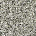 Toho Magatama 3 mm : Silver-Lined Frosted Crystal 10 gram