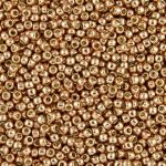 Toho Round 8/0 Permanent Finish Galvanized Rose Gold TR-08-PF551 10 gram