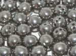 RounTrio® Beads 6 mm Crystal Full Chrome (3 hole) - 10 SZT