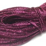 Sznurek sutasz INDIE 2,2mm Metallic Burgundy -  1 m
