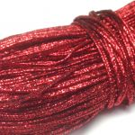Sznurek sutasz INDIE 2,2mm Metallic RED-  1 m