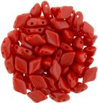GemDuo 8x5mm Opaque Red -  5 gram