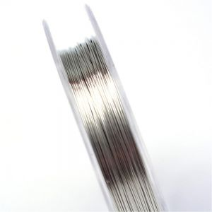 COPPER JEWELRY WIRE 0,3mm LIGHT GREY 10 m - roll