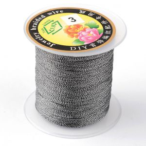 Nici metalizowane  0,4mm ( 3-nitki) - MIX COLOR  ok 150 m