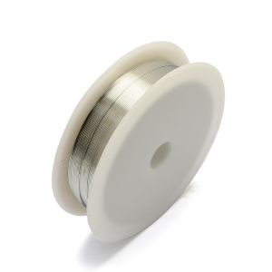 COPPER JEWELRY WIRE 0,3mm SILVER  21 m - roll