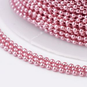 Iron ball chains 1,5 mm electrophoresis PINK - 0,5 m