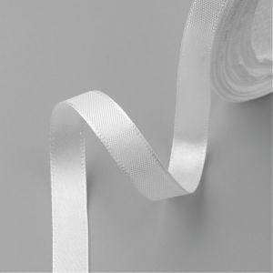 Satin Ribbon 16 mm MILK WHITE ok 22,86 m - rolka