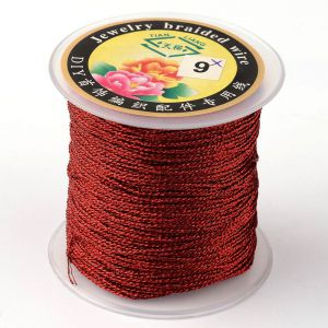 Nici metalizowane  0,4mm ( 3-nitki) - DARK RED ok 150 m