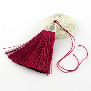 Tassel 80x20x11mm Dark Red - polyester 1 pc