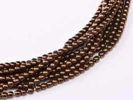 Round Beads 2 mm  Jet Bronze 50 szt