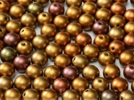 Round Beads 3 mm  Metallic Ancient Gold 50 szt