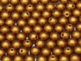 Round Beads 3 mm  Metallic  Brass Gold   50 szt
