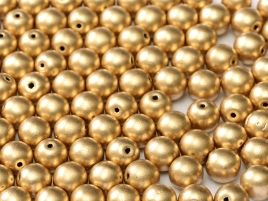 Round Beads 4 mm  Aztec Gold - 50 szt