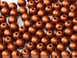 Round Beads 4 mm  Copper - 50 szt