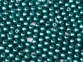 Round Beads 4 mm  Alabaster Pastel Emerald - 50 szt