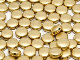 DiscDuo® Beads 6x4mm Aztec Gold (2 hole) - 10 szt