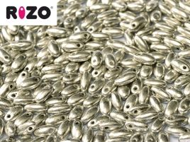 Rizo 2,5 x 6 mm Jet Old Silver 10 gram