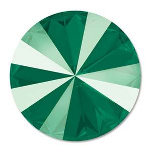 Swarovski Rivoli 12mm Foiled crystal Royal Green 1122 1 szt.