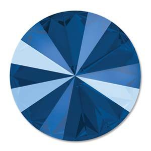 Swarovski Rivoli 12mm Foiled Crystal Royal Blue1122 -1 szt.