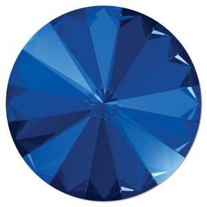 Swarovski Rivoli 12mm Foiled Majestic Blue 1122 1 szt.