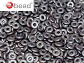 O bead ® 1 x 3,8 mm Alluminium Metallic Steel - 5 gram