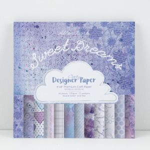 Premium Craft Paper- Sweet Dreams - After Dark Collection   20,3x20,3 cm  ( 2-stronny)- 48 szt