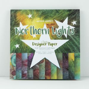 Premium Craft Paper- Northern Lights - Natural Wonders Collectio  20,3x20,3 cm  ( 2-stronny)- 48 szt