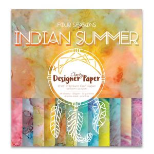 Premium Craft Paper- New England Fall - Indian Summer 20,3x20,3 cm  ( 2-stronny)- 48 szt