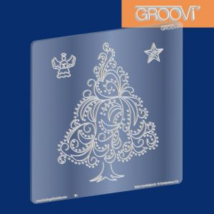 Szablon do Pergamano Christmas Tree, Angel & Star Groovi® Plate A5 - 1 szt