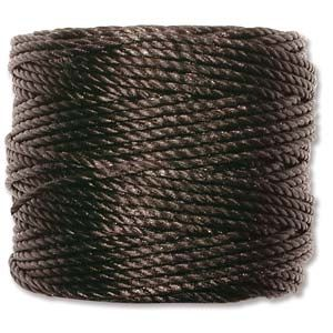 SuperLon S-LON MACRAME CORD TEX 400 Black 35 yard(ok32m)