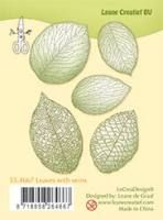 Stempel - Clear Stamp  leaves with veins - 1 szt