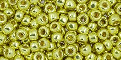 Toho Round 11/0 Permafinish - Galvanized Yellow Gold TR-11-PF590 -10 gram