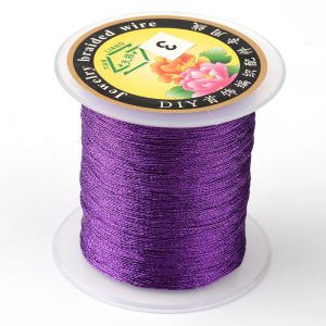 Nici metalizowane  0,4mm ( 3-nitki) - PURPLE ok 150 m