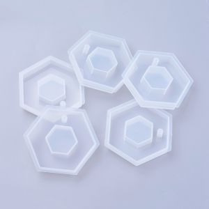 Forma silikonowa do żywicy HEXAGON 70x60x12mm  - 1 szt