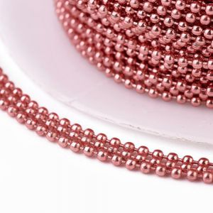 Iron ball chains 1,5 mm electrophoresis Pale Violet Red - 0,5 m