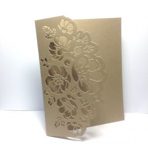 Baza kartki FLOWER LACE  12x15,3 cm (kart.270gr) metallic antic gold - 1 szt