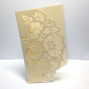 Baza kartki FLOWER LACE  12x15,3 cm (kart.270gr) metallic antic cream - 1 szt
