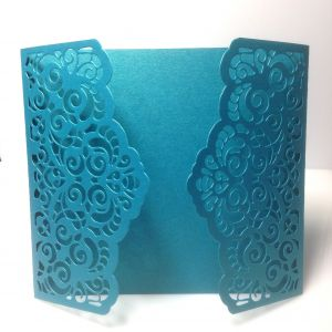 Baza kartki  LACE 13x 14,5 cm pearl turquoise ( 220gr)  - 1 szt