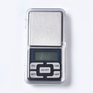 Electronic Digital Pocket Scale 122x63x20 mm  na baterie 2xAAA 500gr/0,01gr
