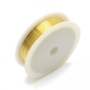 COPPER JEWELRY WIRE 0,3mm GOLD  21 m - roll