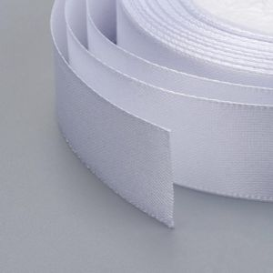 Satin Ribbon 16 mm WHITEok 22,86 m - rolka