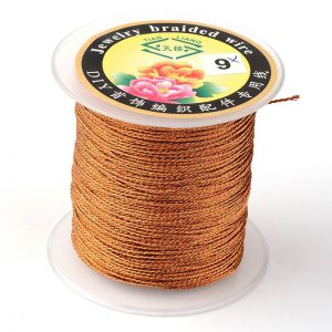 Nici metalizowane  0,4mm ( 3-nitki) - CHOCOLATE ok 150 m
