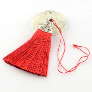 Tassel 80x20x11mm  Red - polyester 1 pc