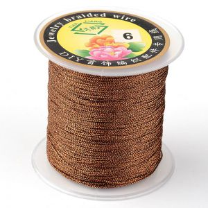 Nici metalizowane  0,4mm ( 3-nitki) - COCONUT BROWN ok 150 m