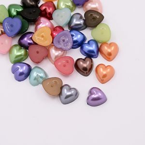 Kaboszon akrylowy 10,5x10,5 mm Pearl Heart mix color 0,01- 10 szt